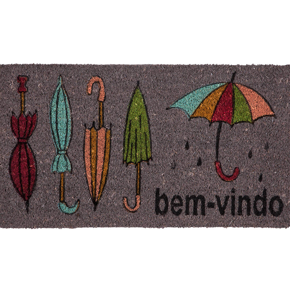 Capacho Corttex Fibra de Coco Natural Color Art Guarda Chuva 33x60cm