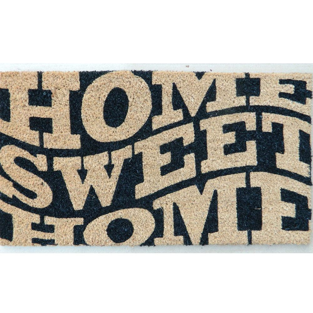 Capacho Corttex Fibra de Coco Natural Color Art Home Sweet Home