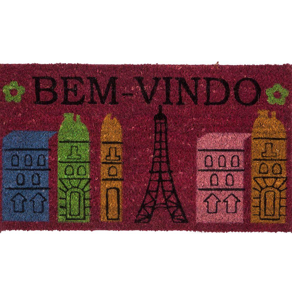Capacho Corttex Fibra de Coco Natural Color Art Paris 33x60cm