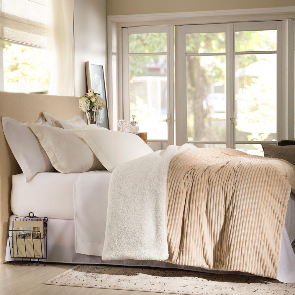 Cobertor Corttex Casal Home Design Boreal Bege