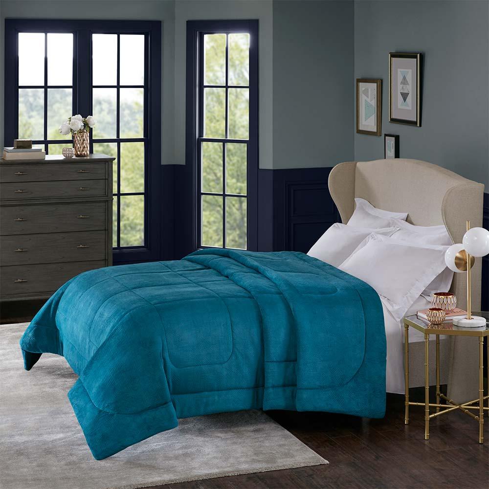 Cobertor Corttex King Home Design Alaska Arquimedes Azul Adriático