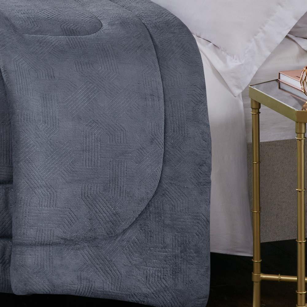 Cobertor Corttex King Home Design Alaska Arquimedes Chumbo