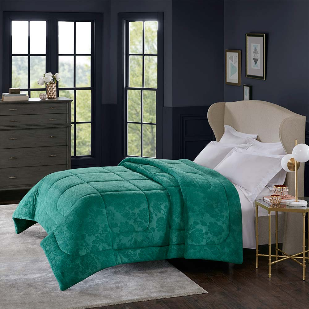 Cobertor Corttex King Home Design Alaska Poeme Esmeralda