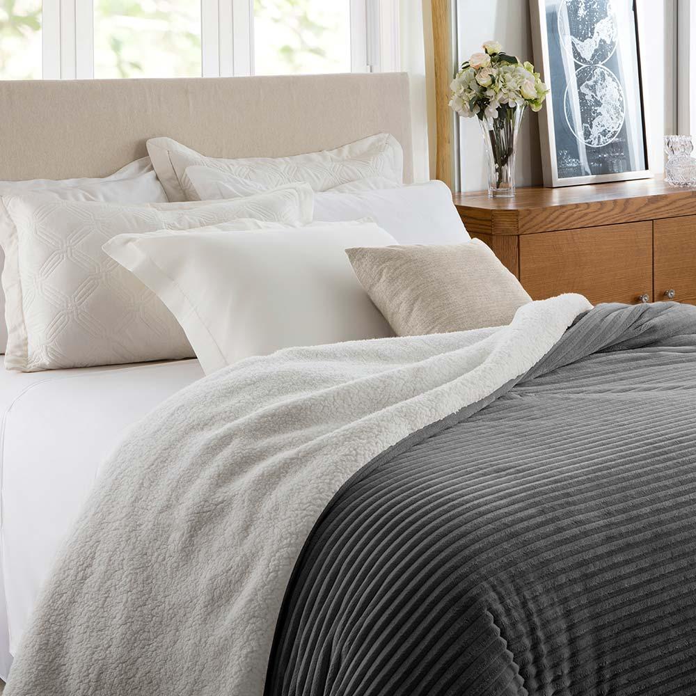 Cobertor Corttex King Home Design Boreal Chumbo