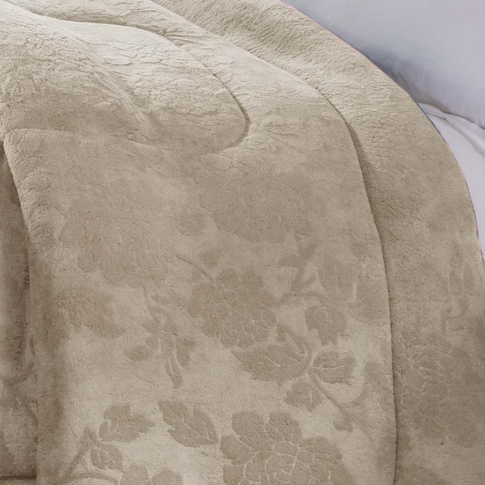 Cobertor Corttex Queen Home Design Alaska Poeme Bege