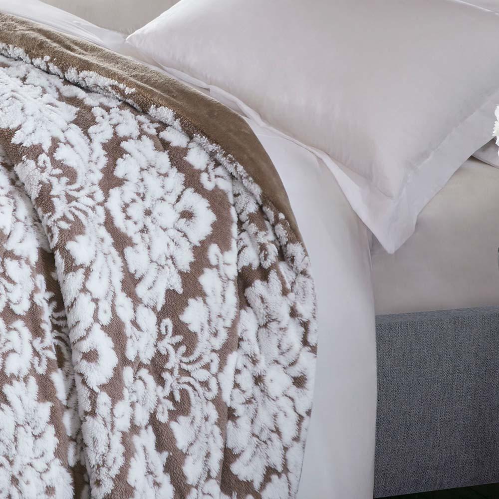 Cobertor Corttex Queen Jacquard Islandia Taupe Claro