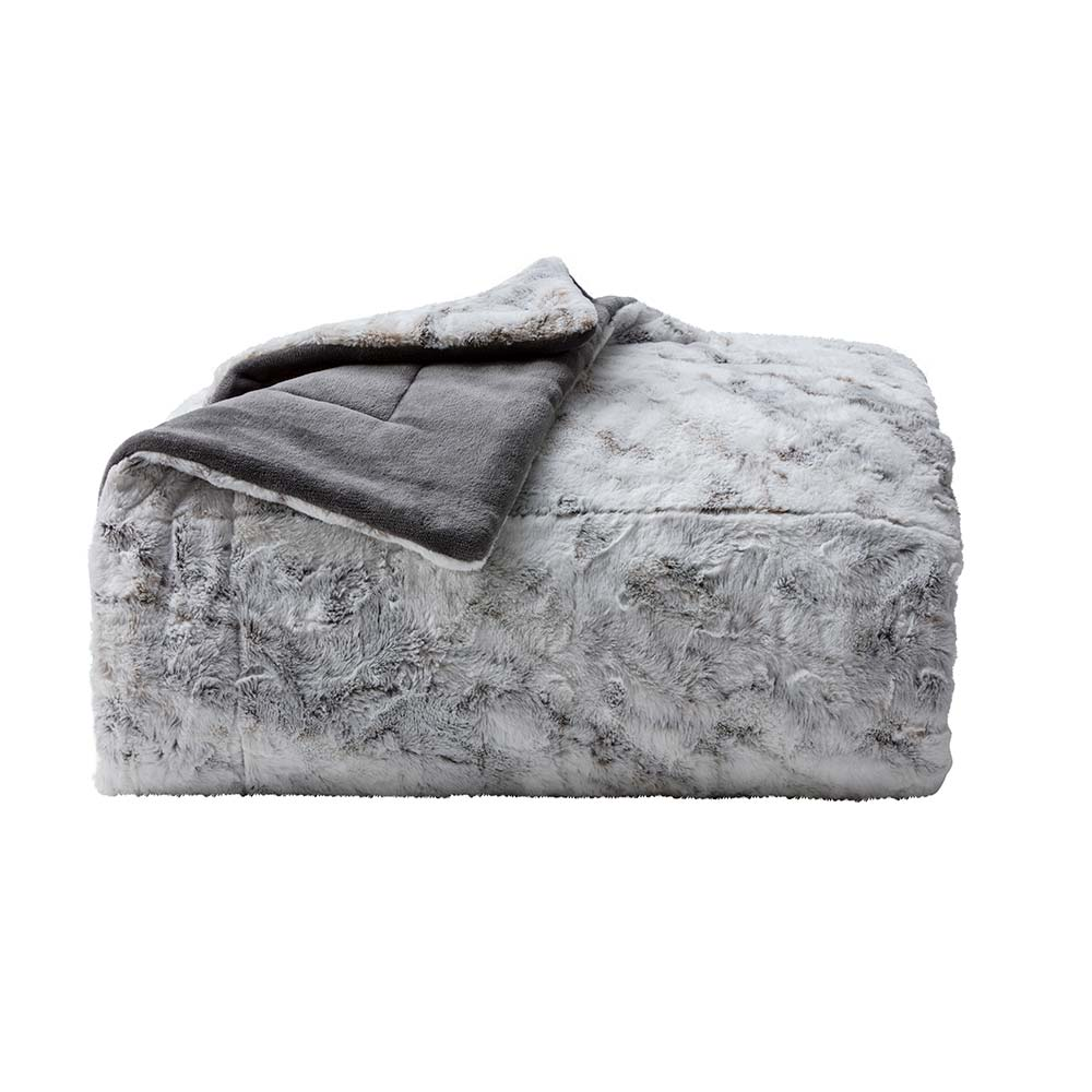 Cobertor Corttex Queen Living Art Chillan Cinza