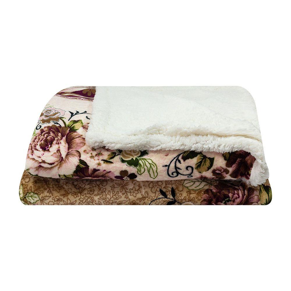 Cobertor Dupla Face Sultan Casal Realce Premium Flores