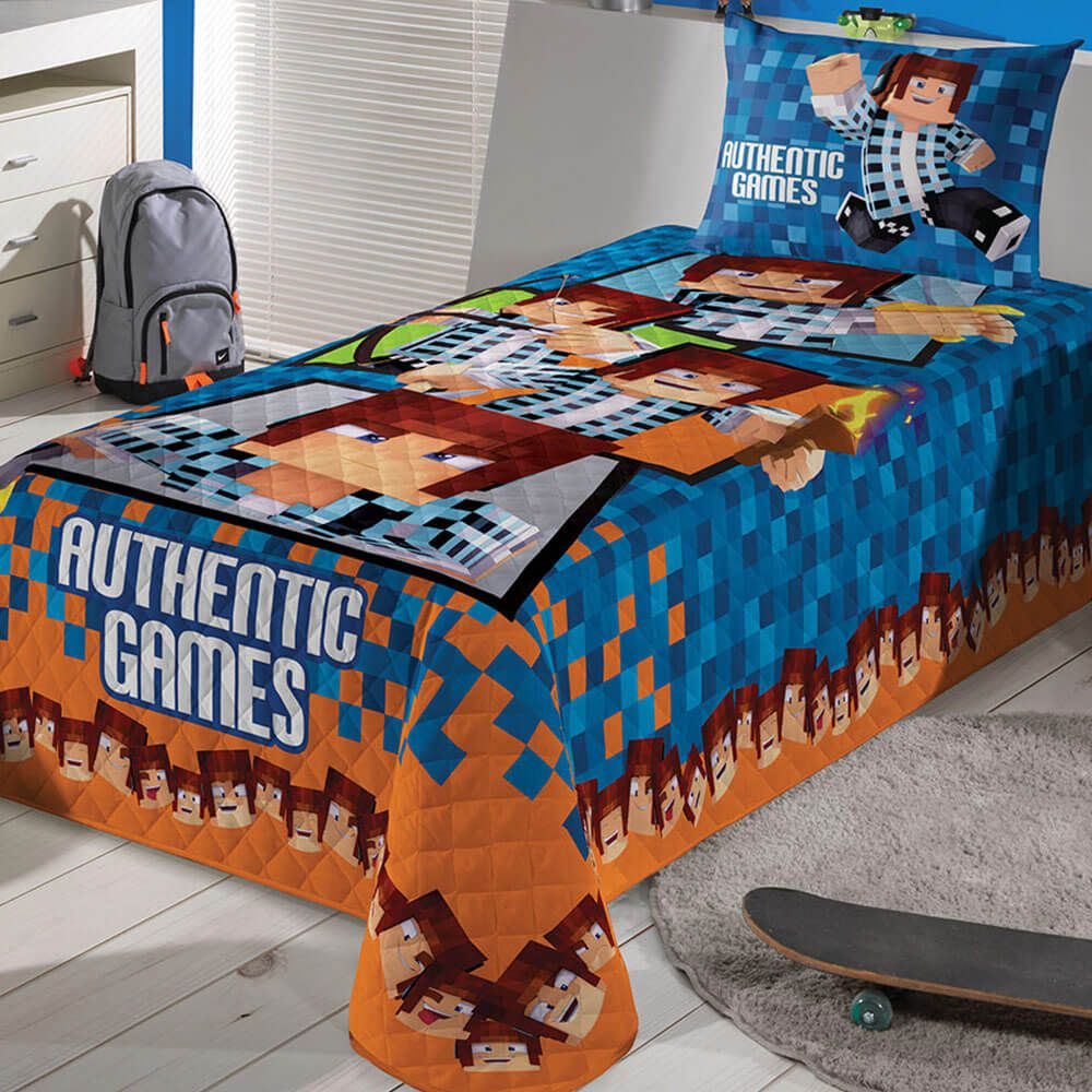 Colcha Matelassê Lepper Solteiro Lepper Kids Authentic Games