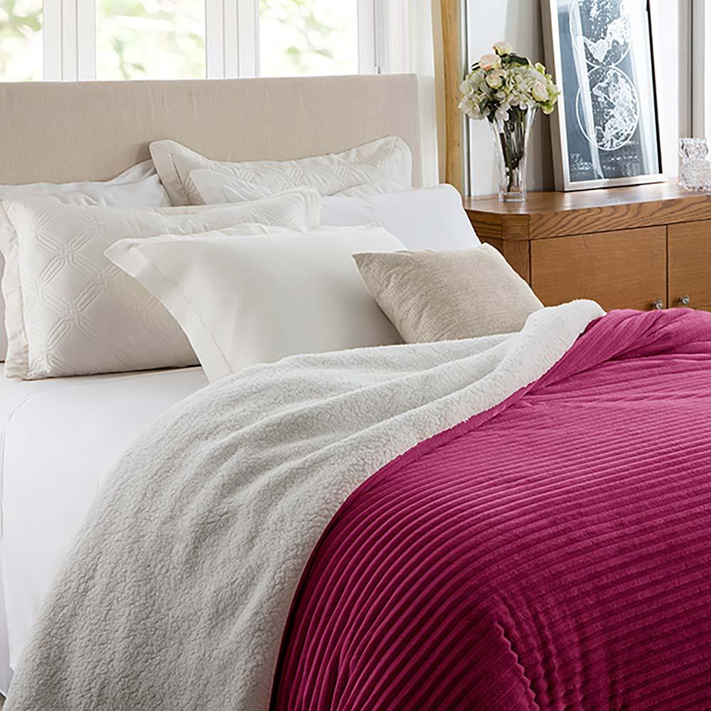 Cobertor Corttex Casal Home Design Boreal Cereja