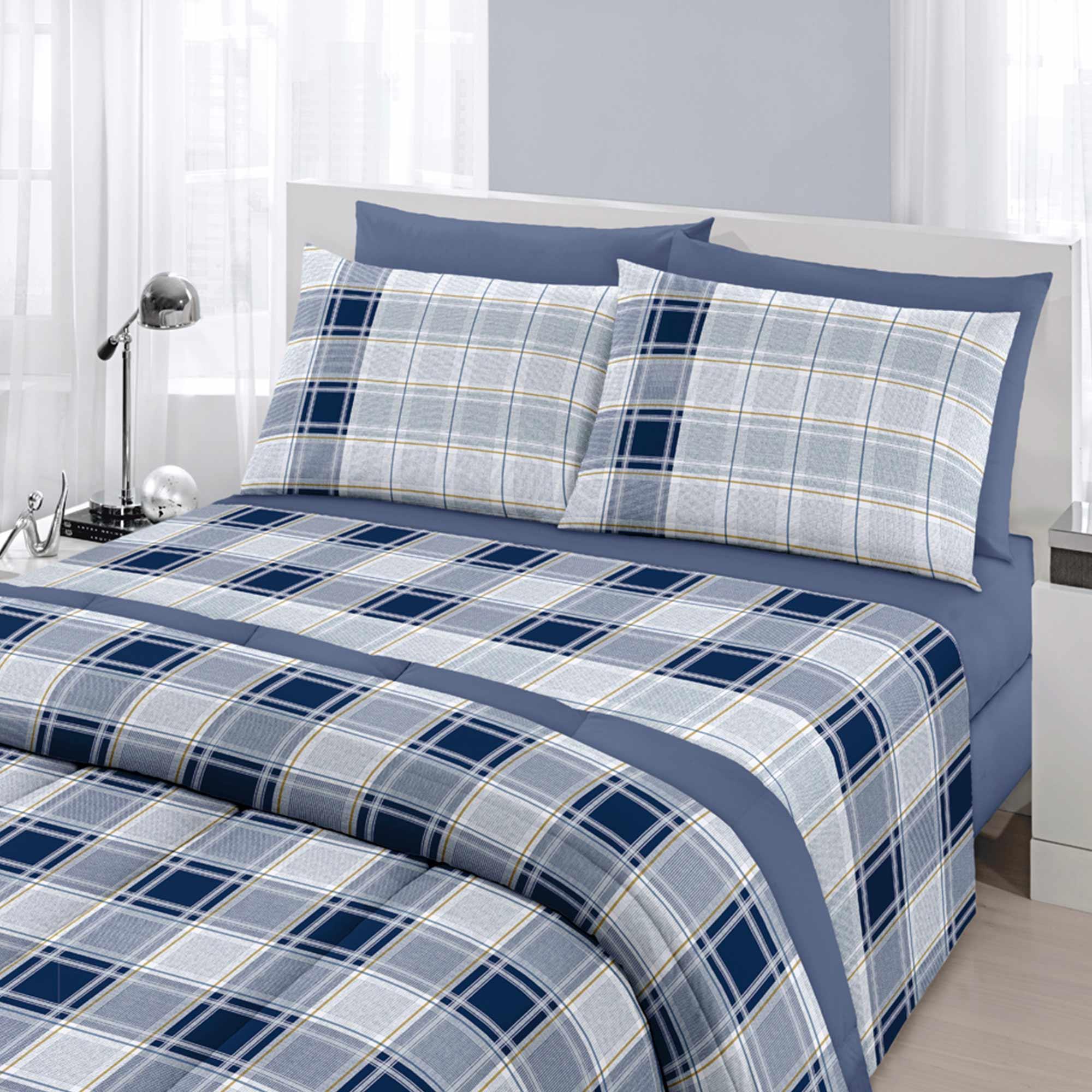 Enxoval Casal 7 peças Royal matias Blue