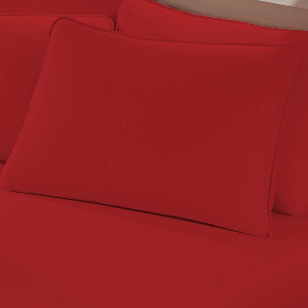 Fronha Avulsa Buettner Malha 200 Art Premium Vermelho