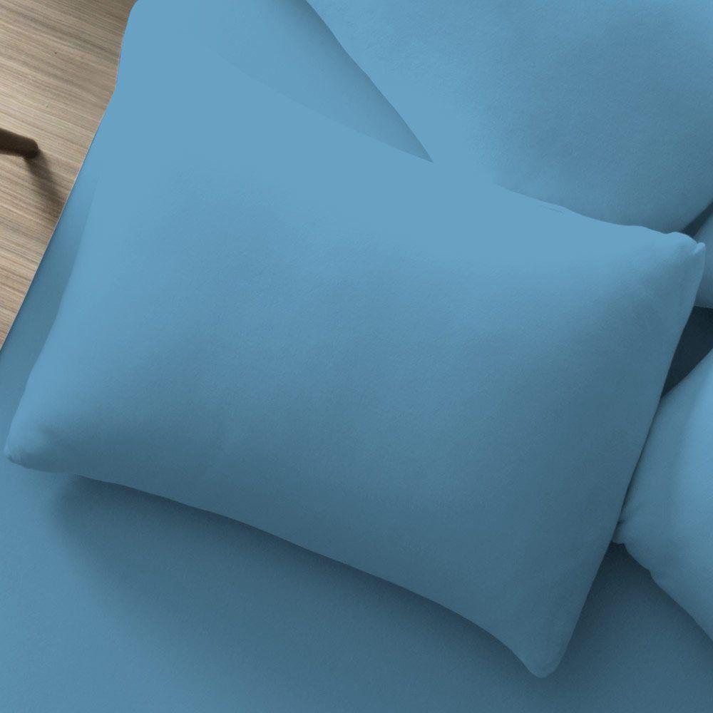 Fronha Avulsa Lisa Portallar 1 peça Azul Mar