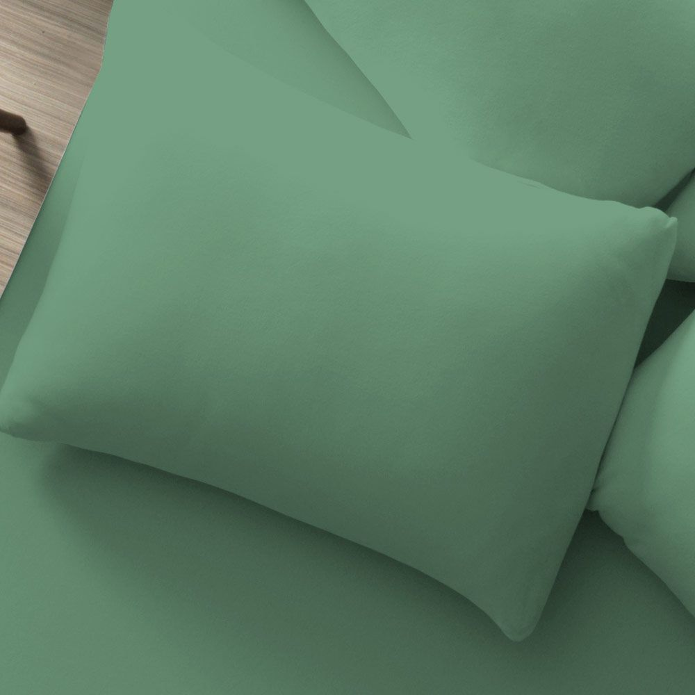 Fronha Avulsa Lisa Portallar 1 peça Verde Topazio