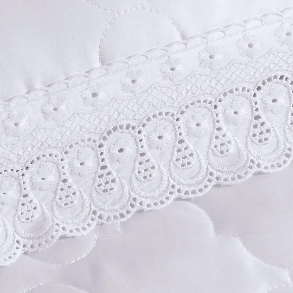 Fronha Buettner Percal 300 Fios Cristal Renascença Branco