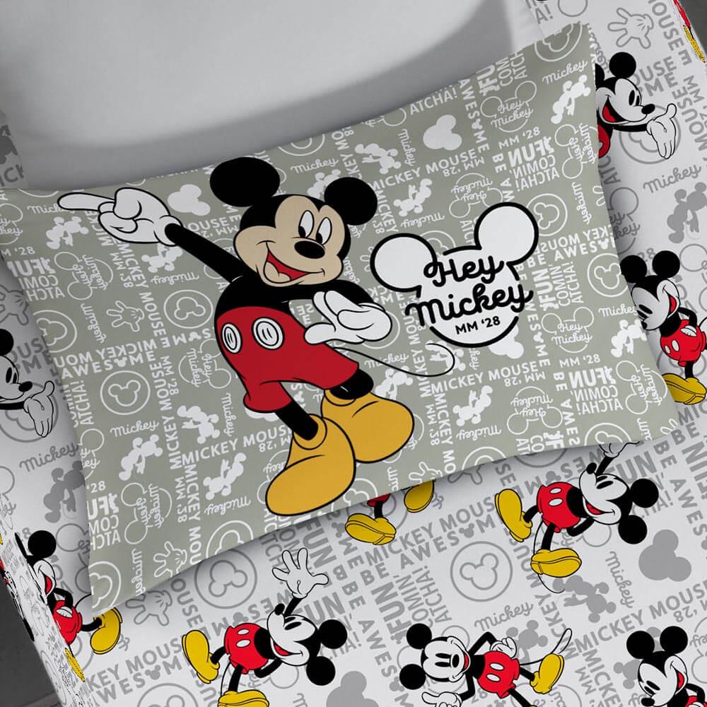 Fronha Estampada do Mickey em Malha Portal Lar