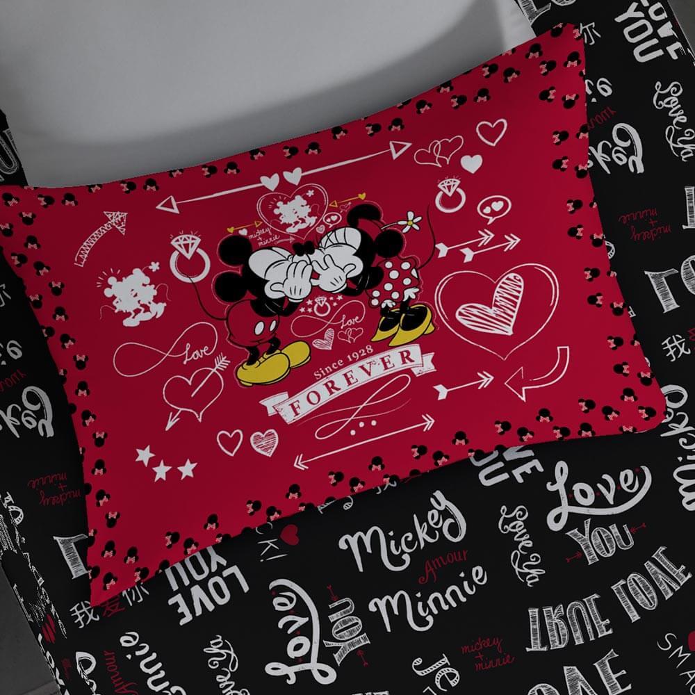 Fronha Estampada do Mickey em Malha Portal Lar Jadore