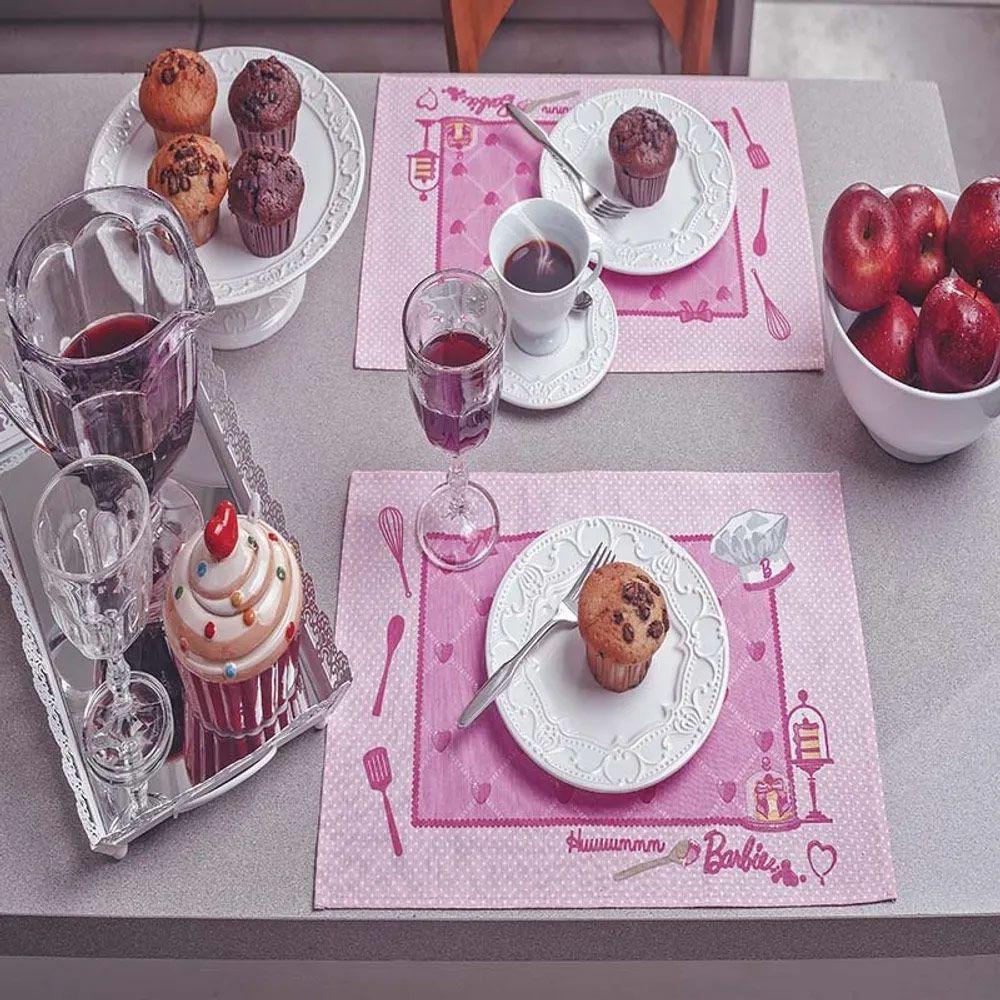 Jogo Americano Lepper 4 peças Barbie Chef