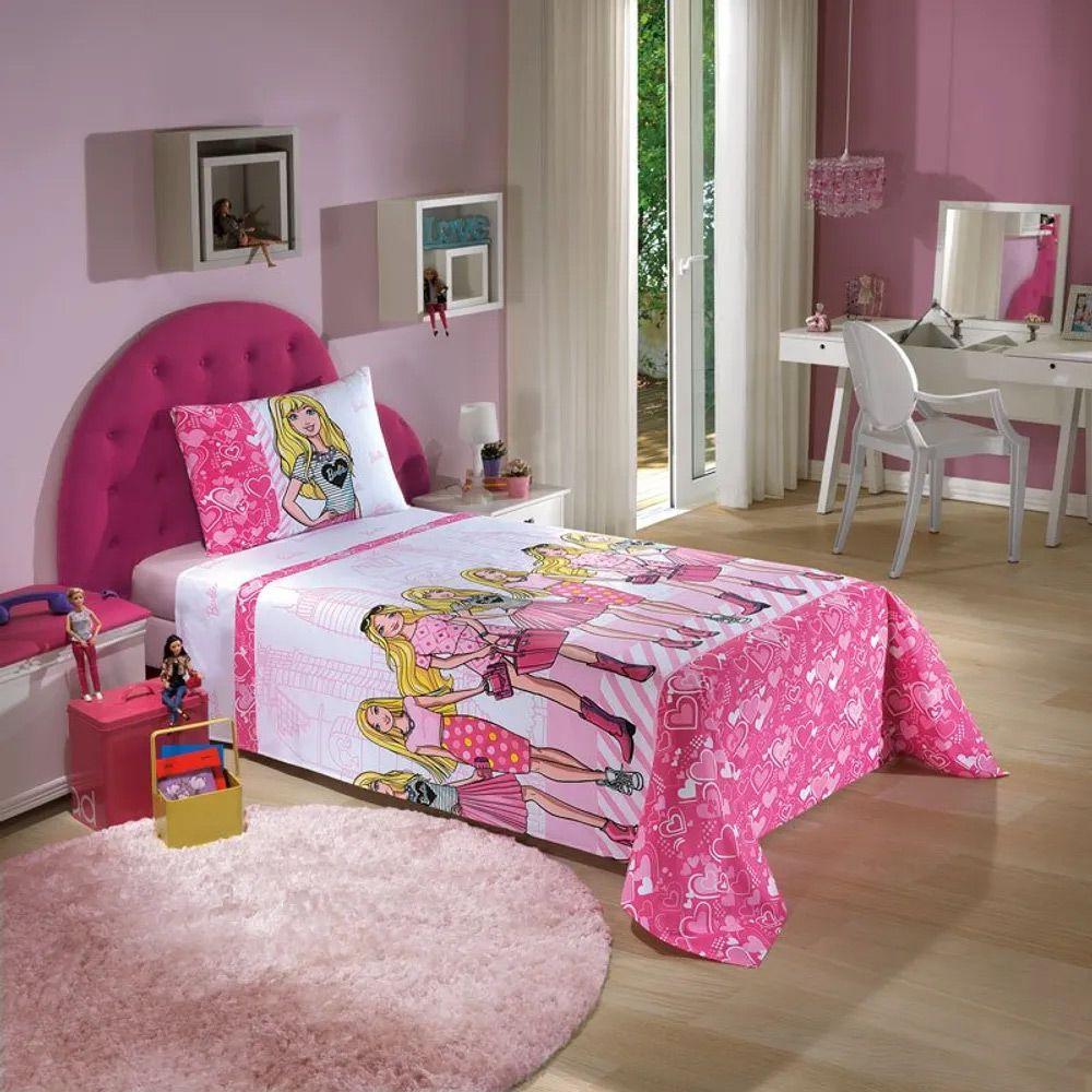 Jogo de Cama Dohler Solteiro 3 peças Barbie