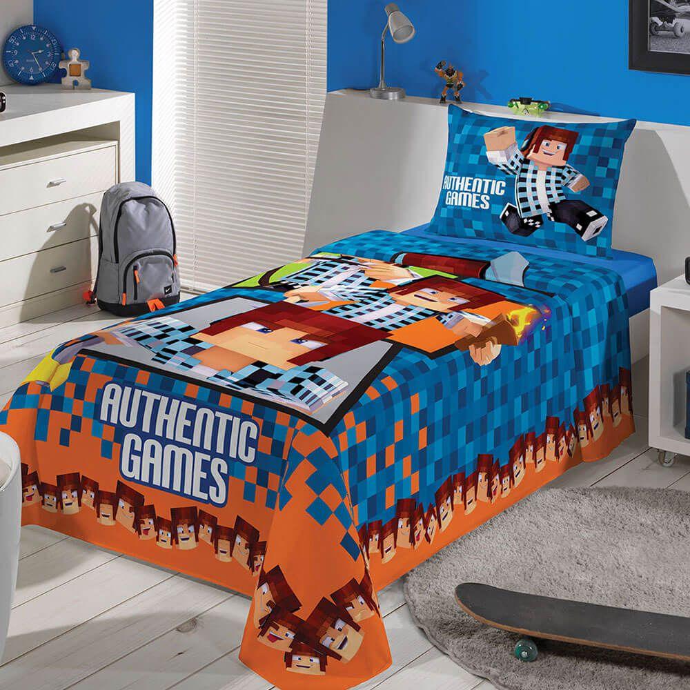 Jogo de Cama Lepper Solteiro 3 peças Lepper Kids Authentic Games