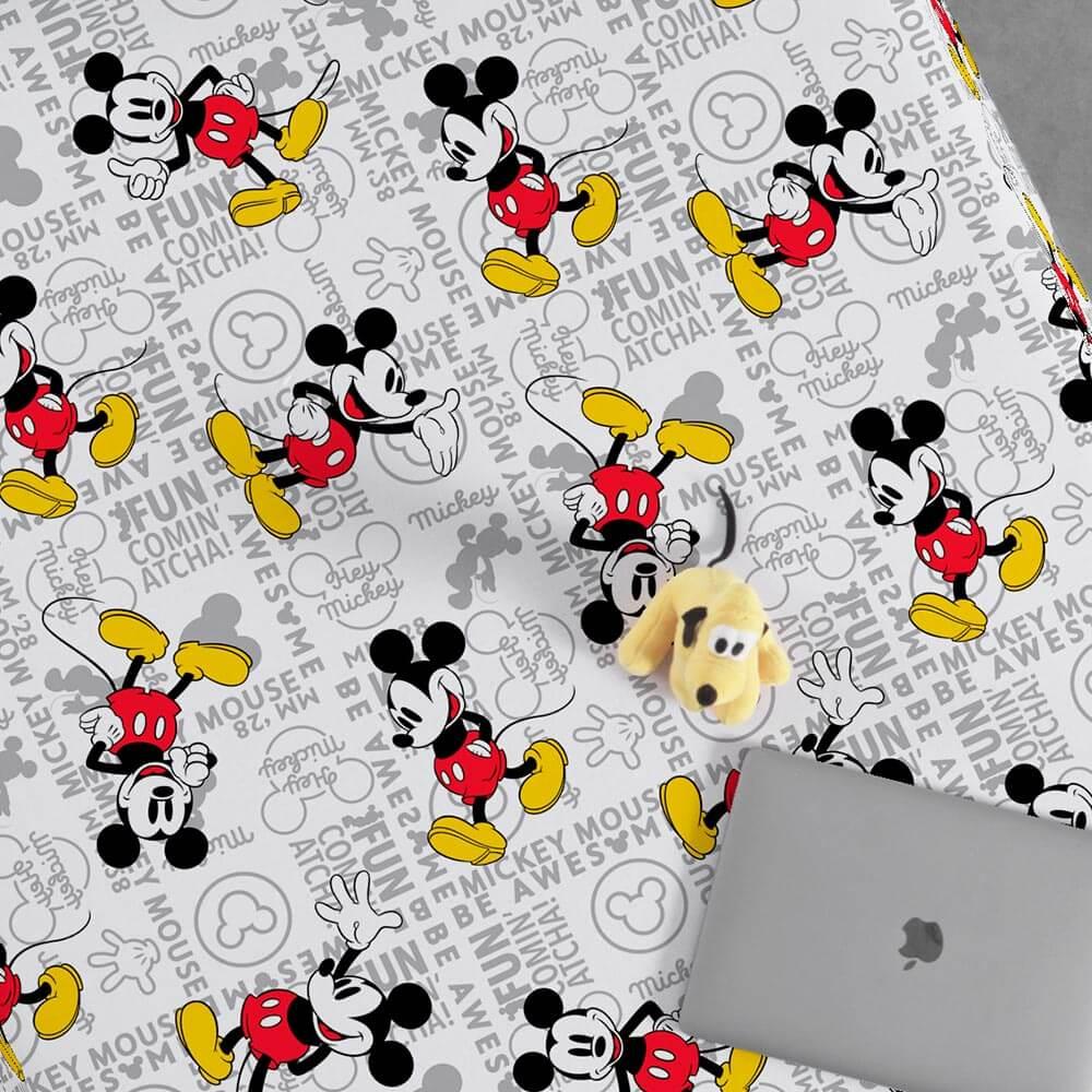 Jogo de Cama Portallar Solteiro 2 peças Malha Disney Mickey Fun