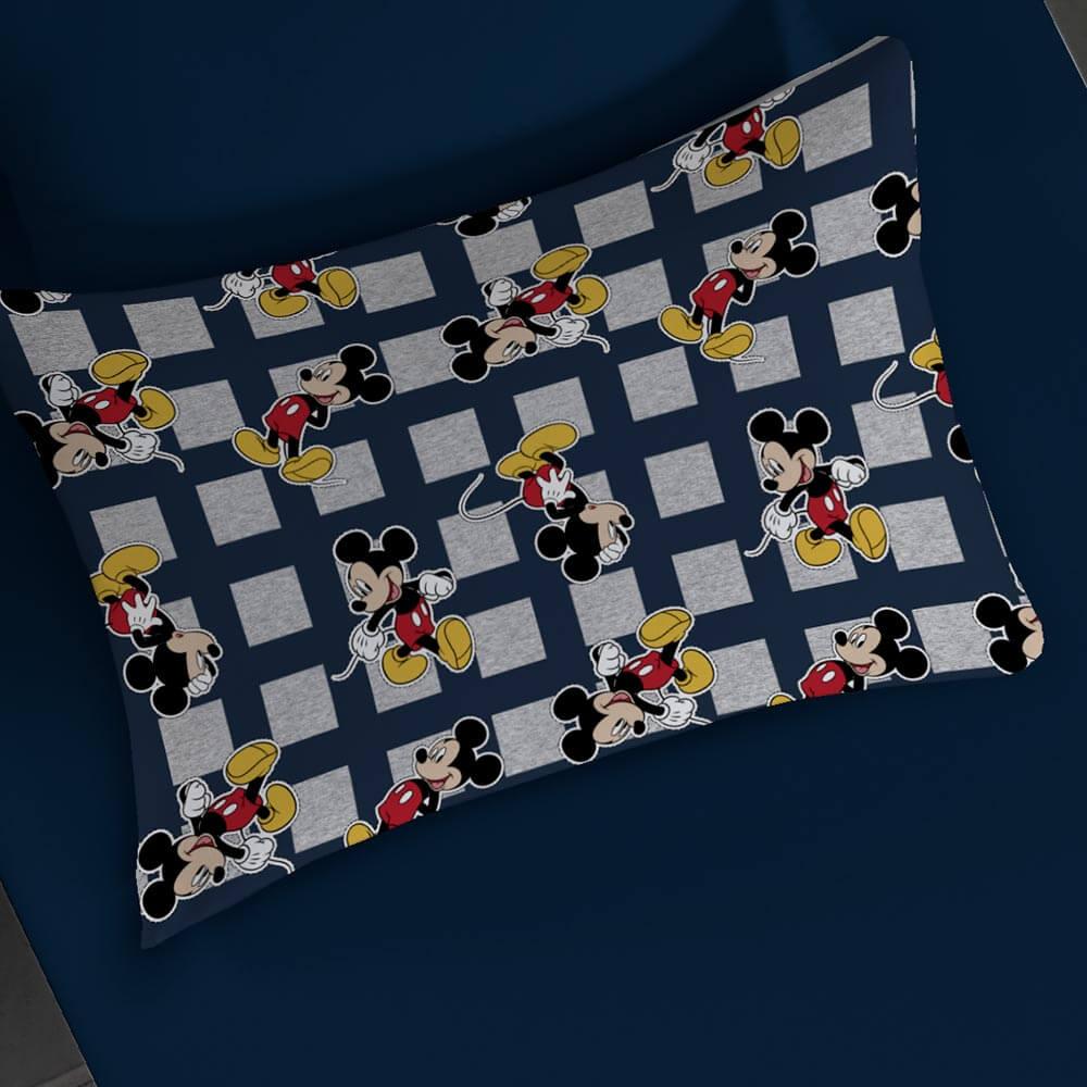 Jogo de Cama Portallar Solteiro 2 peças Malha Disney Mickey Mescla