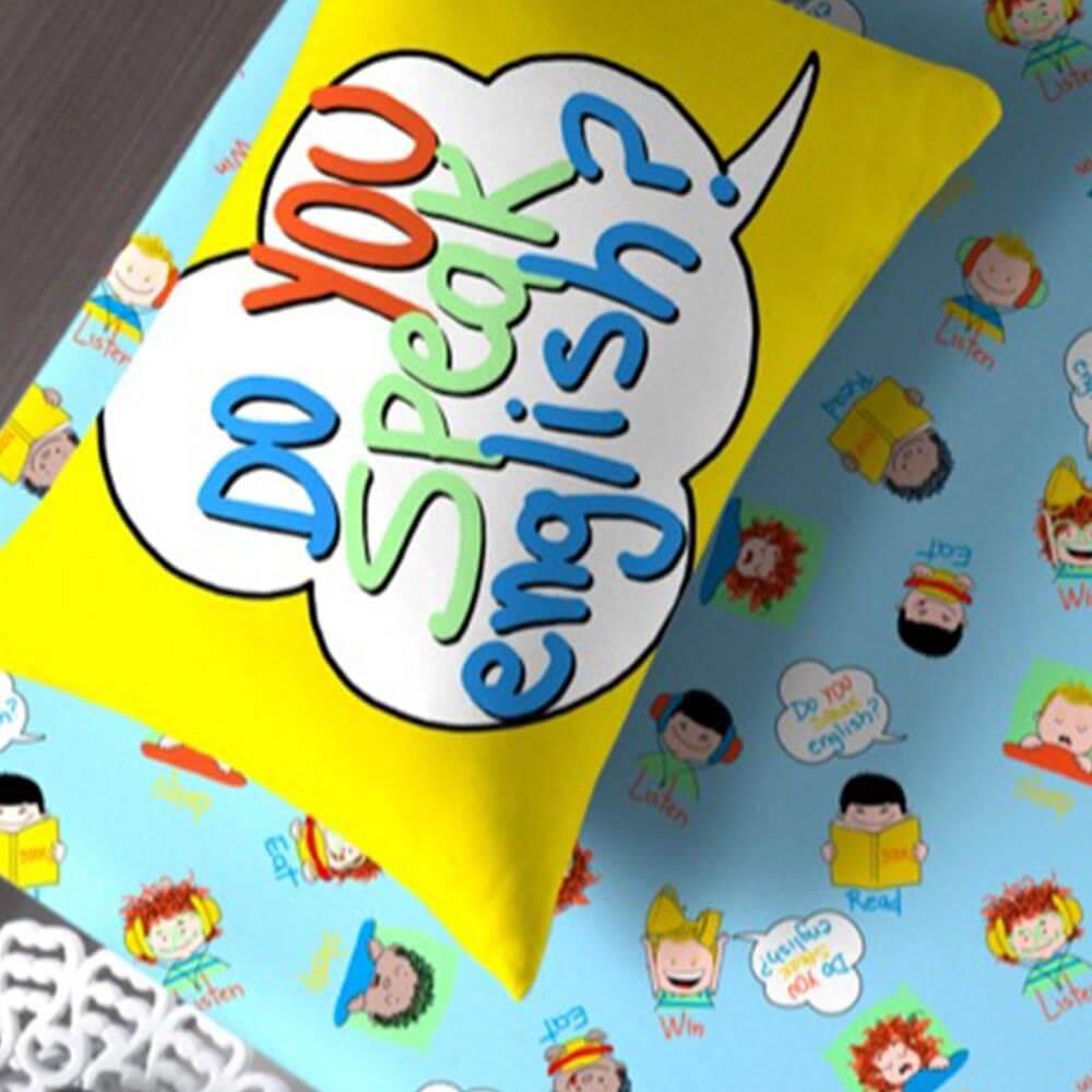 Jogo de Cama Portallar Solteiro 2 peças Malha Portal Joy Aprender