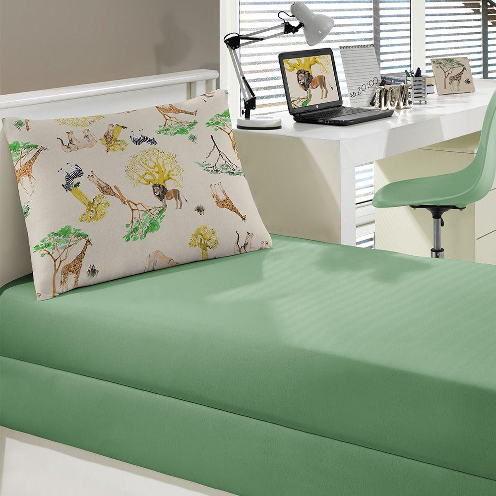 Jogo de cama Portallar Solteiro 2 peças Malha Safari