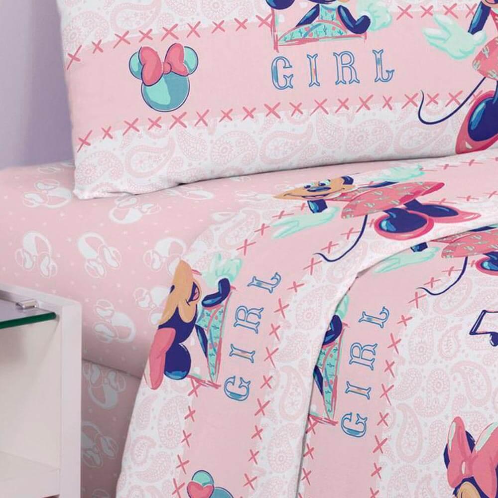Jogo de Cama Santista Solteiro 3 peças Disney Minnie Kitsch