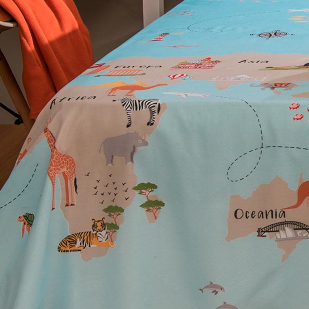 Jogo de Cama Santista Solteiro 3 peças Infantil Maps
