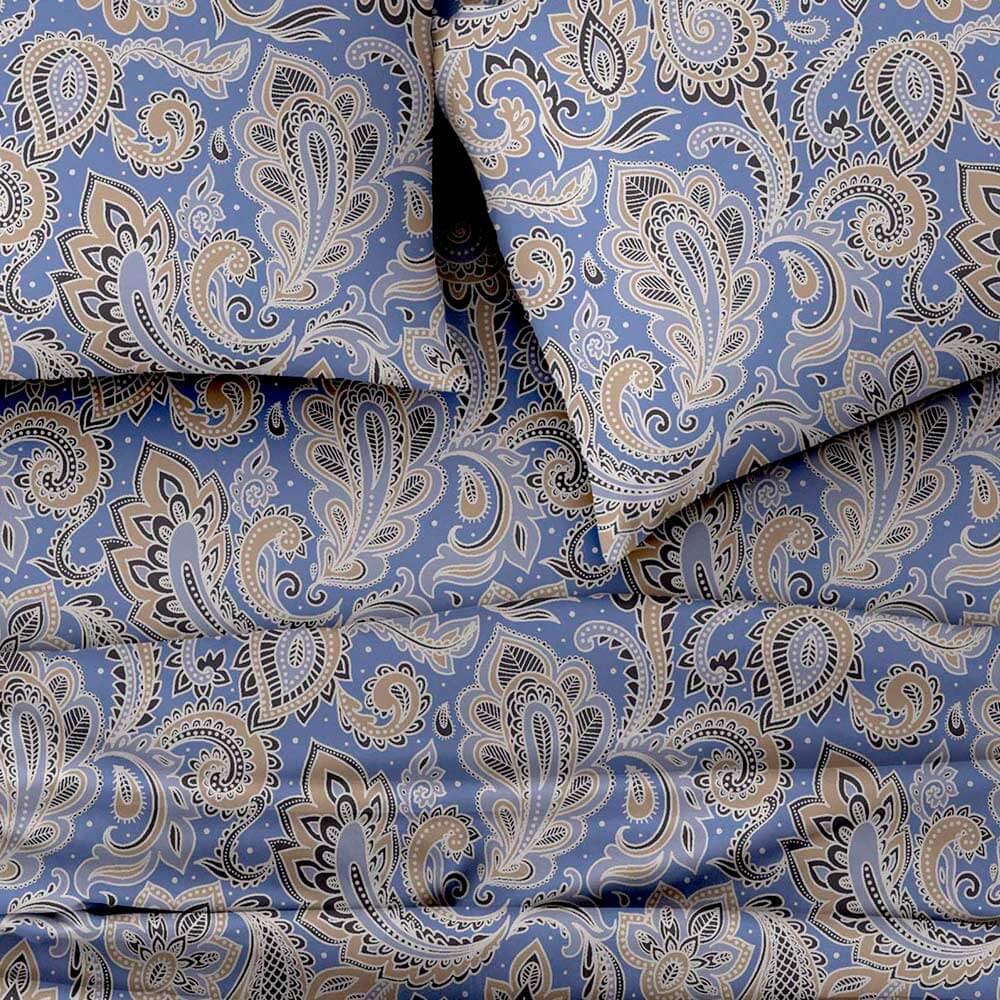 Jogo de Cama Solteiro 3 peças Color Art DES 101 Azul