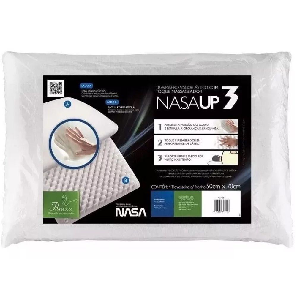 Kit 2 Peças Travesseiro Fibrasca Nasa UP 3 para Fronha 50x70cm