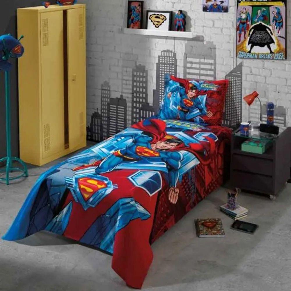 Kit Colcha Dohler Solteiro 2 peças Superman 07