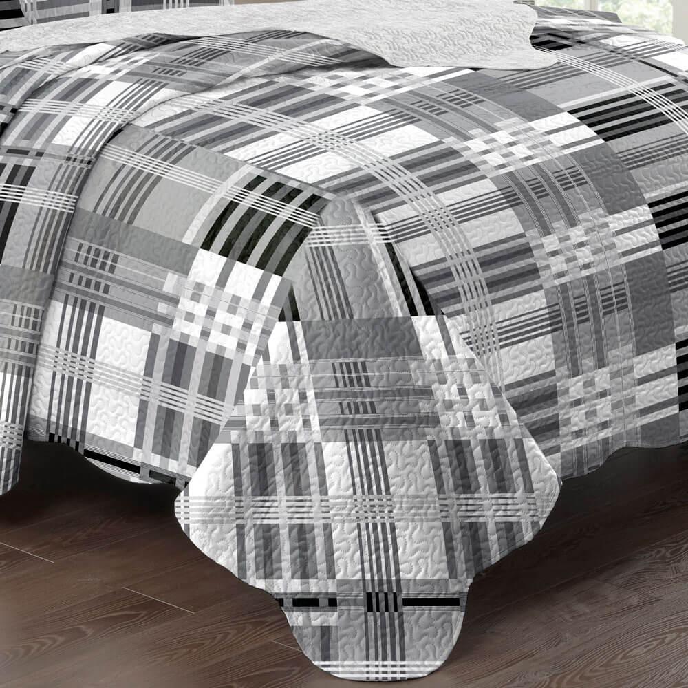 Kit Colcha Paris Corttex Casal 3 peças 150 Fios Color Art Des 187