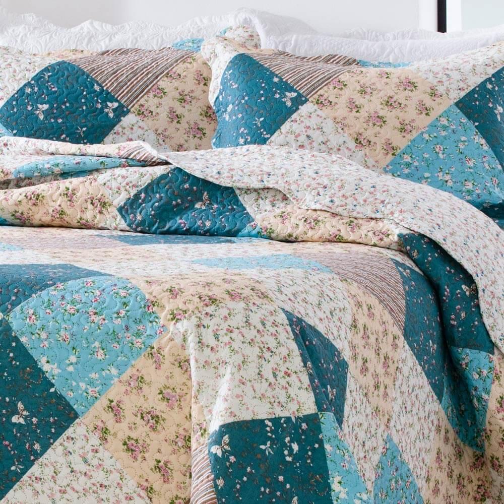 Kit Colcha Paris Corttex Solteiro 2 peças 150 Fios Color Art MGL 4416