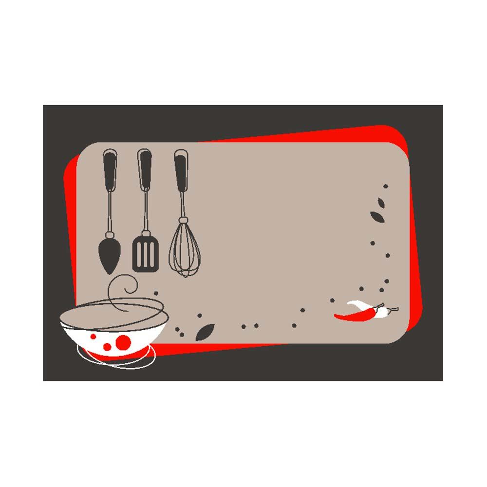 Kit Tapete de Cozinha Kacyumara 2 peças Decore Ash