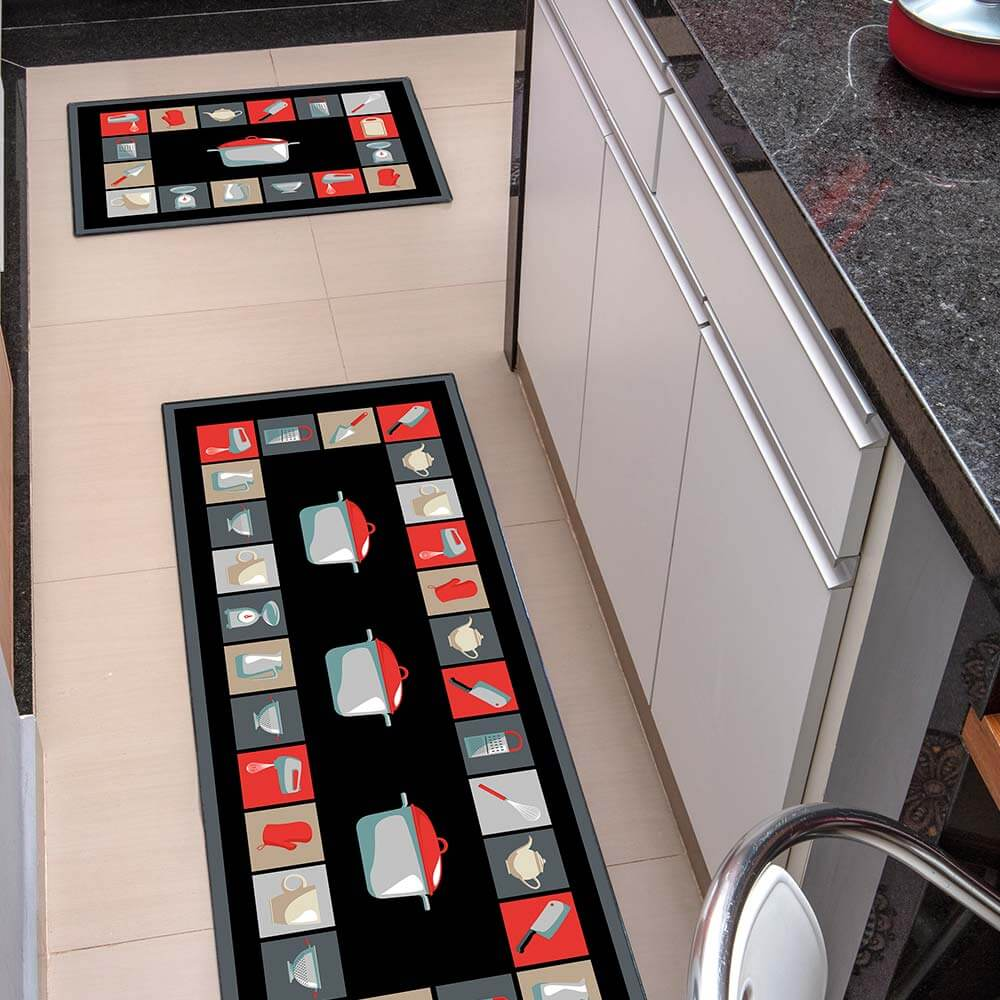 Kit Tapete de Cozinha Kacyumara 2 peças Decore Lomo