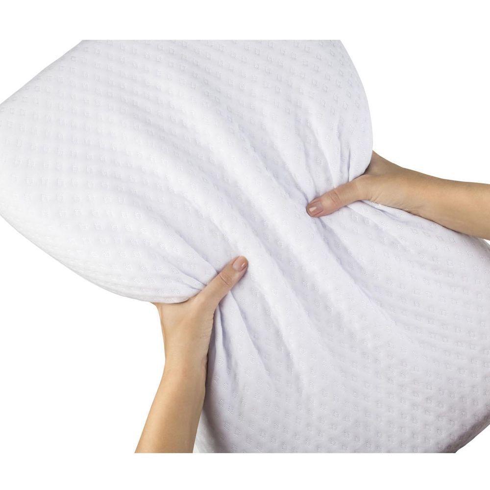 Kit Travesseiro Fibrasca e Capa Protetora Impermeável Plumasul