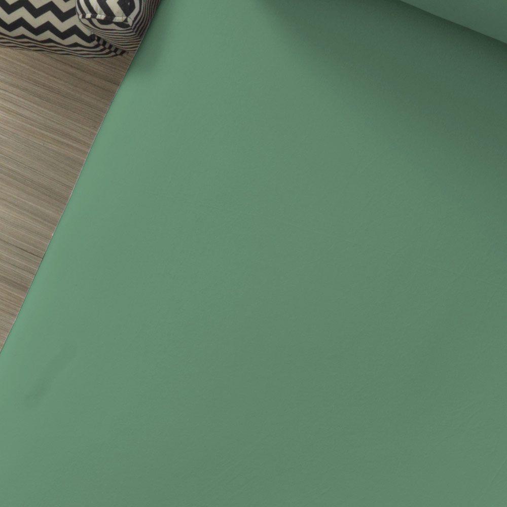 Lençol Avulso com Elástico Liso Portallar Queen Verde Topazio
