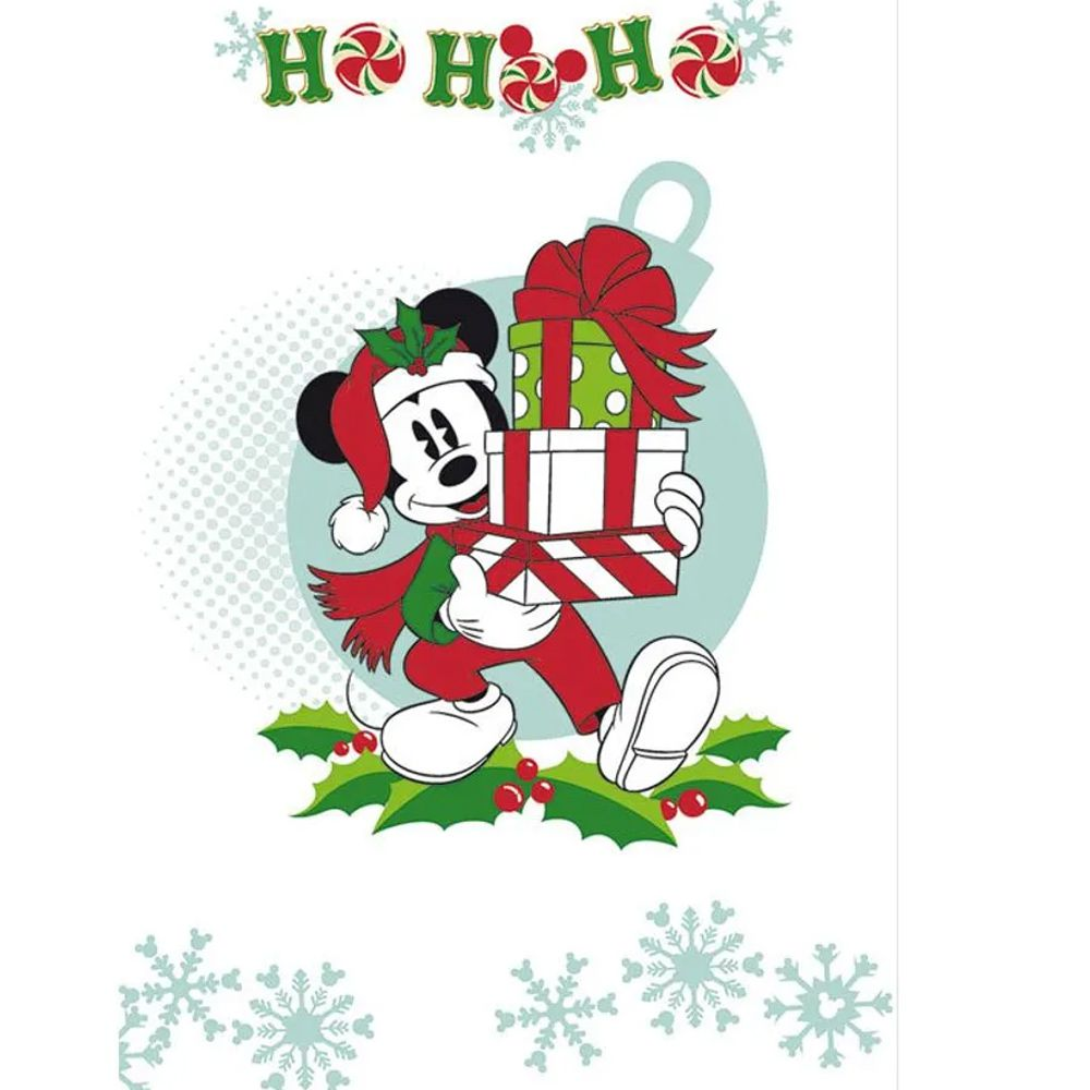 Pano de Copa Lepper  Natal Mickey e Minnie Noite Feliz VI