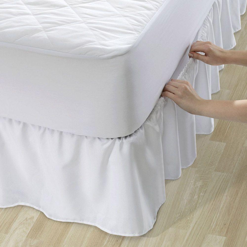 Saia para Colchão Box Santista Solteiro Veste Fácil Clean Branco
