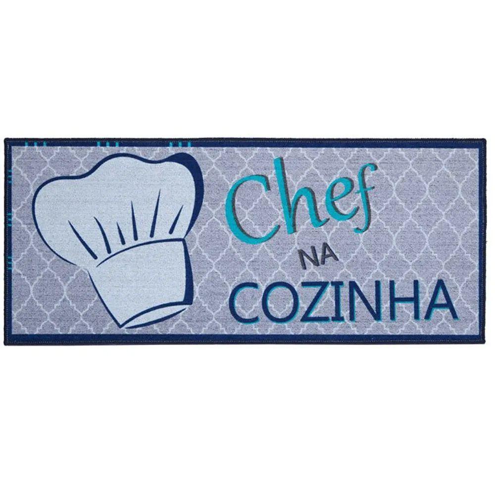 Tapete de Cozinha Corttex Home Design Chef na Cozinha