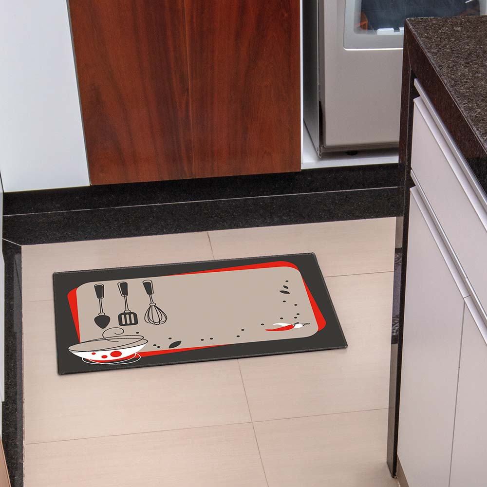 Tapete de Cozinha Kacyumara 45x65cm Decore Ash