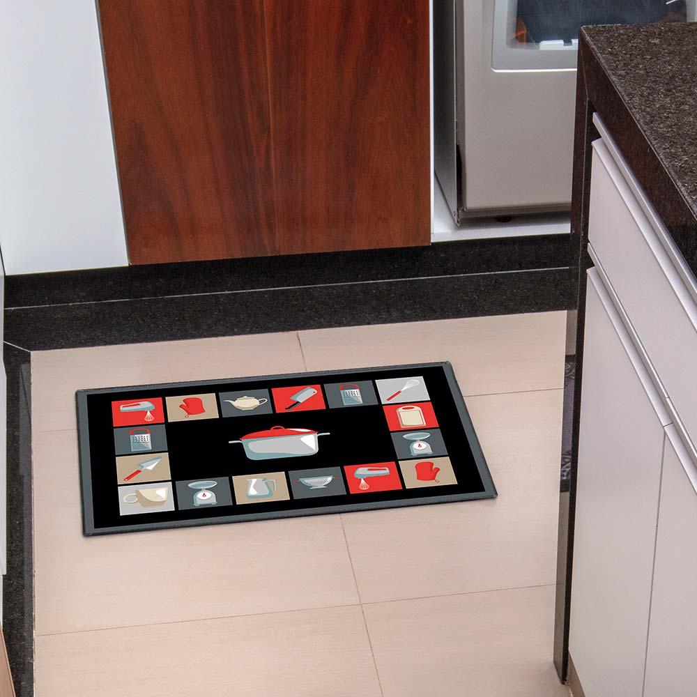 Tapete de Cozinha Kacyumara 45x65cm Decore Cozinha