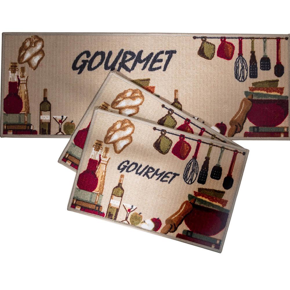 Tapete para Cozinha Corttex 3 peças Attuale Gourmet