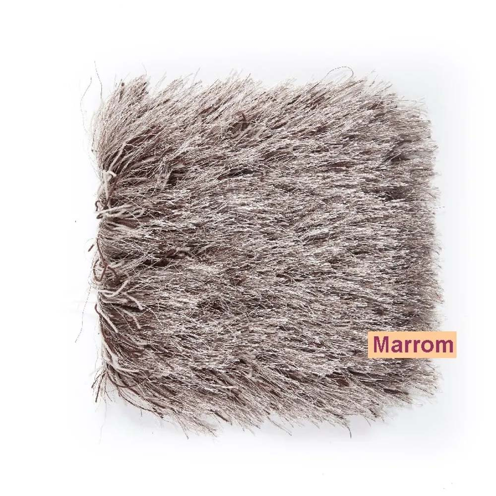 Tapete para Quarto Corttex Andria Marrom 100x150cm
