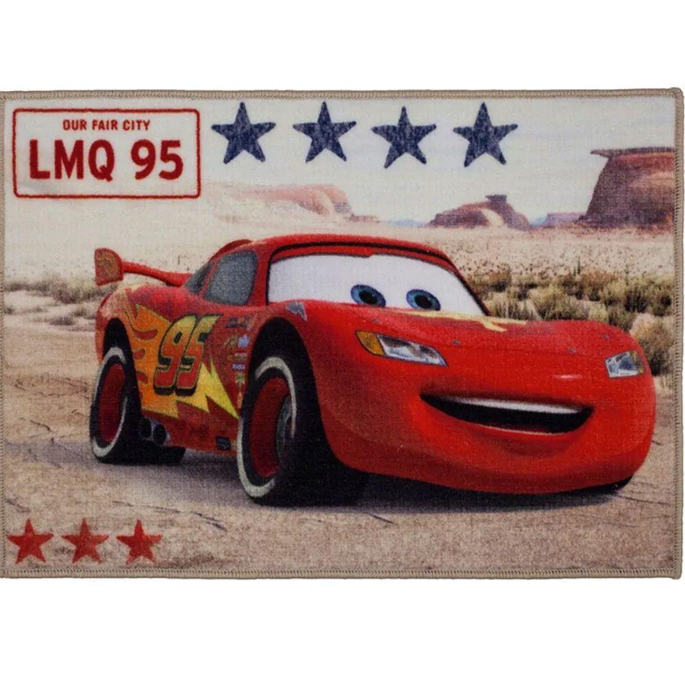 Tapete para Quarto Corttex Disney Carros 70cm x 50cm