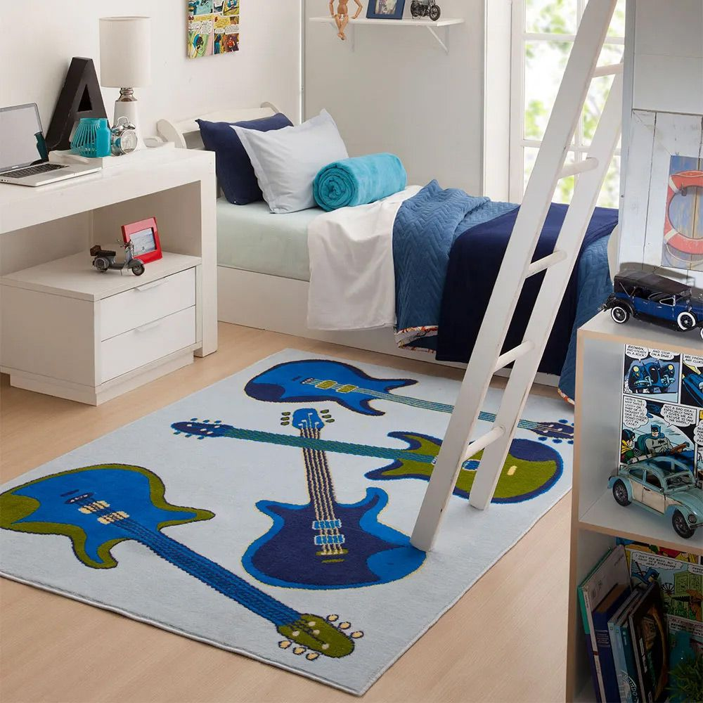 Tapete para Quarto Corttex Jumper Music 100x150cm