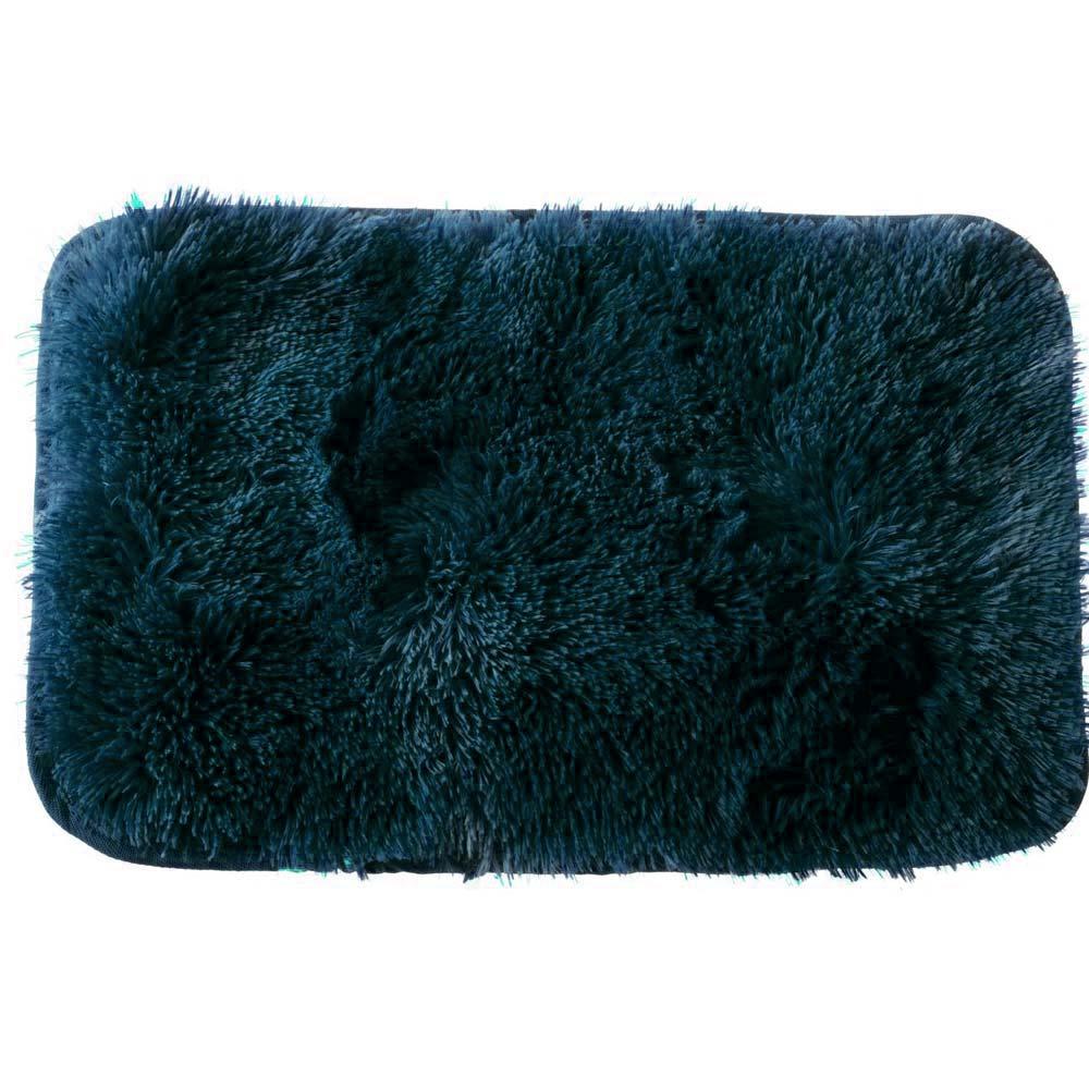 Tapete para Quarto Corttex Moscou Azul Escuro 100x140cm