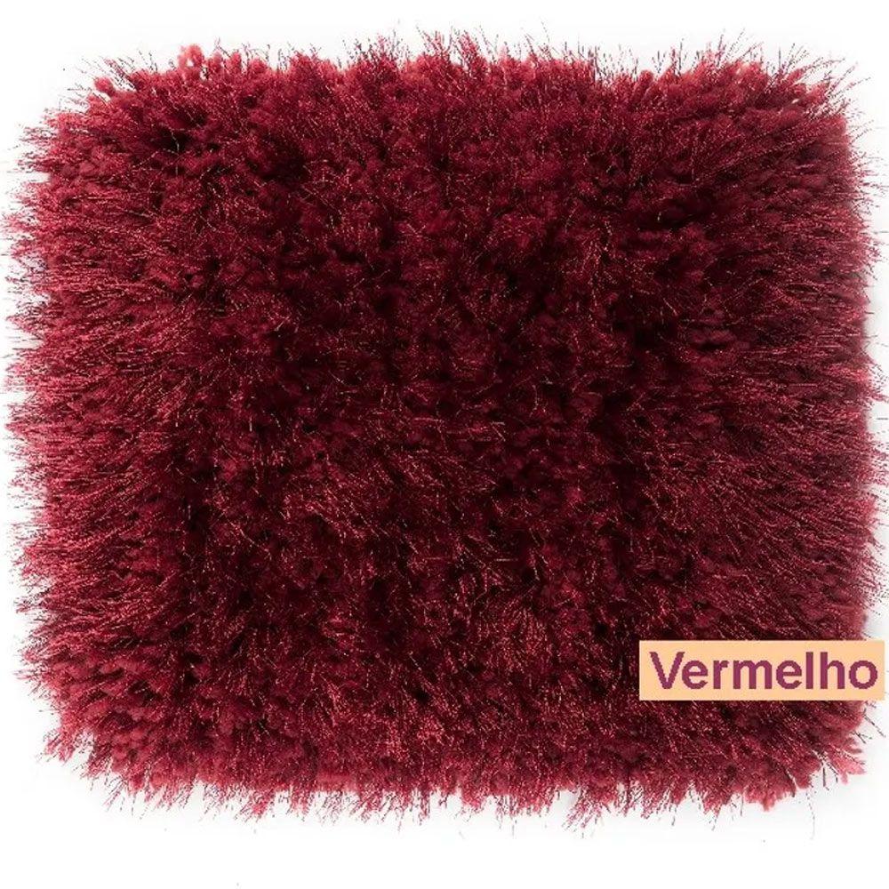 Tapete para Quarto Corttex Parvati Vermelho 100x150cm